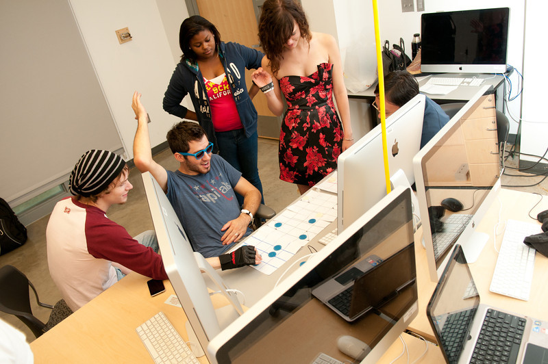 Professor Grimsby's Game Design class. Photo by Evan Cantwell/Creative Services/George Mason University