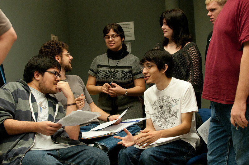 A game design class. Photo by Evan Cantwell/Creative Services/George Mason University