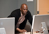 College of Visual & Performing Arts Professor Boris Willis teaches a Computer Game Design class. Photo by Alexis Glenn/Creative Services/George Mason University