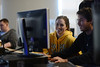 Students in the computer game design classroom. Photo by Evan Cantwell/Creative Services/George Mason University