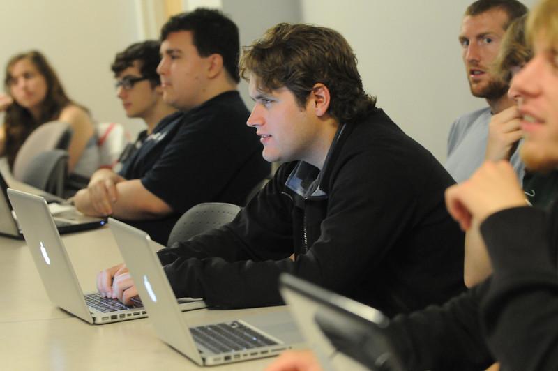 Matt Nolan's Game Design class. Matt Nolan's Game Design class.  Photo by Evan Cantwell/Creative Services/George Mason University