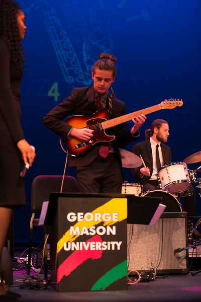 The George Mason University School of Music and Mason Jazz Ensemble perform at Jazz 4 Justice 2017. Proceeds benefit the Fairfax Law foundation and the Mason Jazz Studies department. (Bethany Camp/Creative Services/George Mason University)