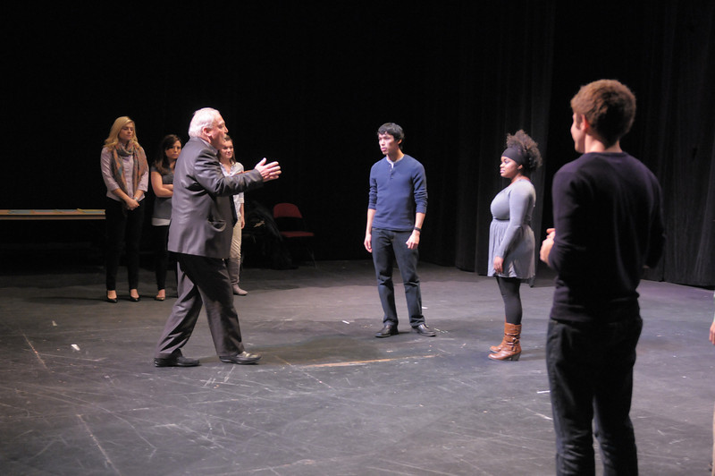 Stacy Keach masterclass with George Mason University theater students.  Photo by Creative Services/George Mason University