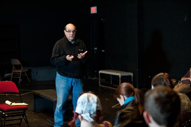 Associate Professor of Theater Ed Gero teaches a Characterization class at Fairfax campus. Photo by Alexis Glenn/Creative Services/George Mason University