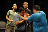 Ken Elston's theater students learn fighting techniques in class. Photo by Creative Services/George Mason University
