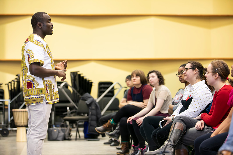 Kenya Choral Music Workshop.  Photo by:  Ron Aira/Creative Services/George Mason University