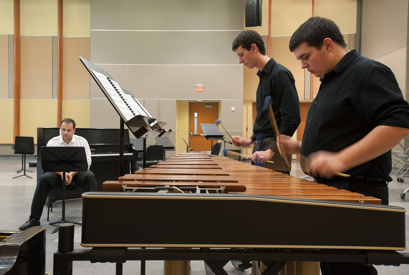 Percussion Ensemble. Photo by Alexis Glenn/Creative Services/George Mason University