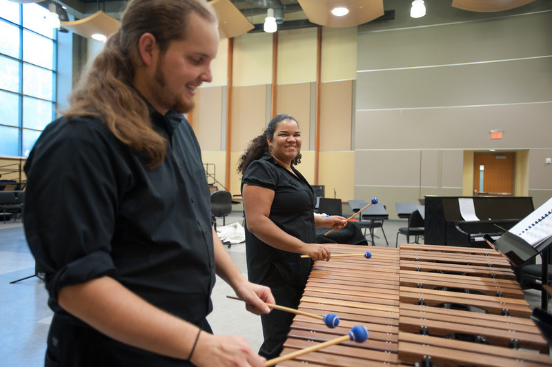 Percussion Ensemble. Photo by Alexis Glenn/Creative Services/George Mason University