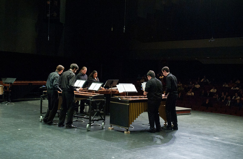 The Percussion Ensemble performs at the Concert Hall on Fairfax Campus.