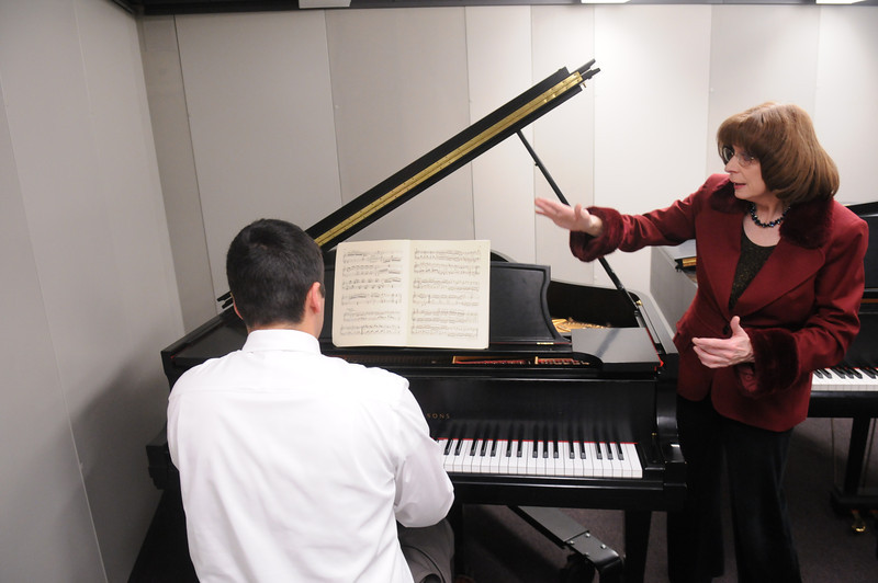 School of music practice rooms. Photo by Evan Cantwell/Creative Services/George Mason University