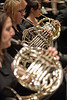 111018515 - Wind Symphony dress rehearsal, Concert Hall. French horns. Photo by Alexis Glenn/Creative Services/George Mason University