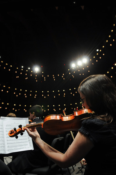 Mason Symphony Orchestra performing at the Hylton Performing Arts Center.