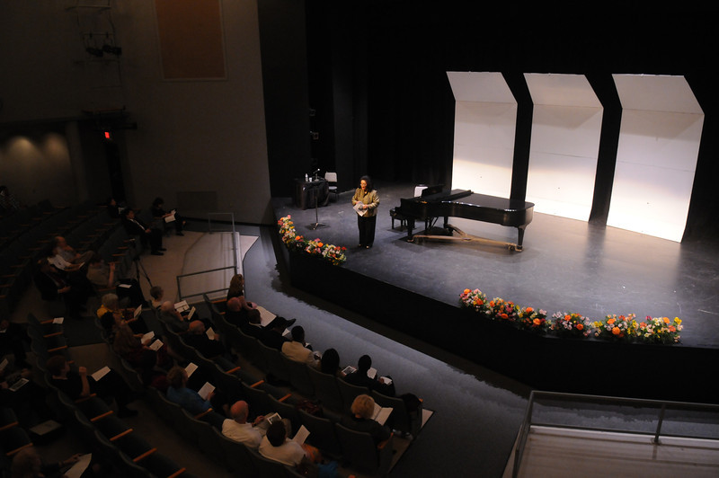 Patricia Miller during an Opera Master Class at the School of Music.  Photo by Creative Services/George Mason University