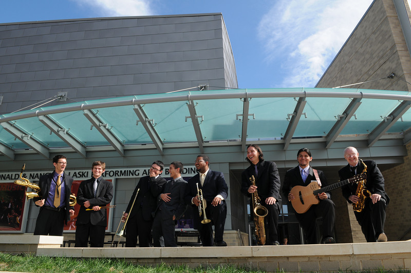 Jazz ensemble. Photo by Evan Cantwell/Creative Services/George Mason University