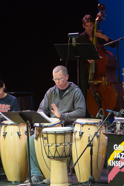 Mason Jazz Ensemble during the dress rehearsal.Photo by Craig Bisacre/Creative Services/George Mason University