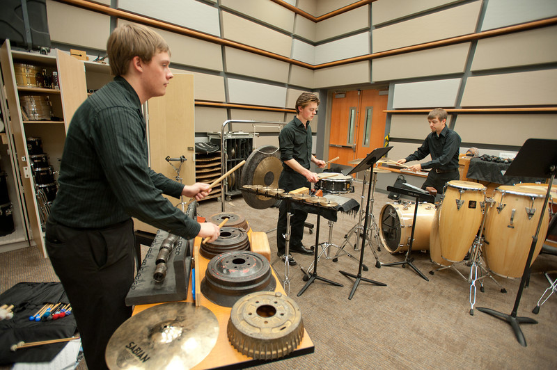 A percussion ensemble in CVPA's school of music. Photo by Alexis Glenn/Creative Services/George Mason University