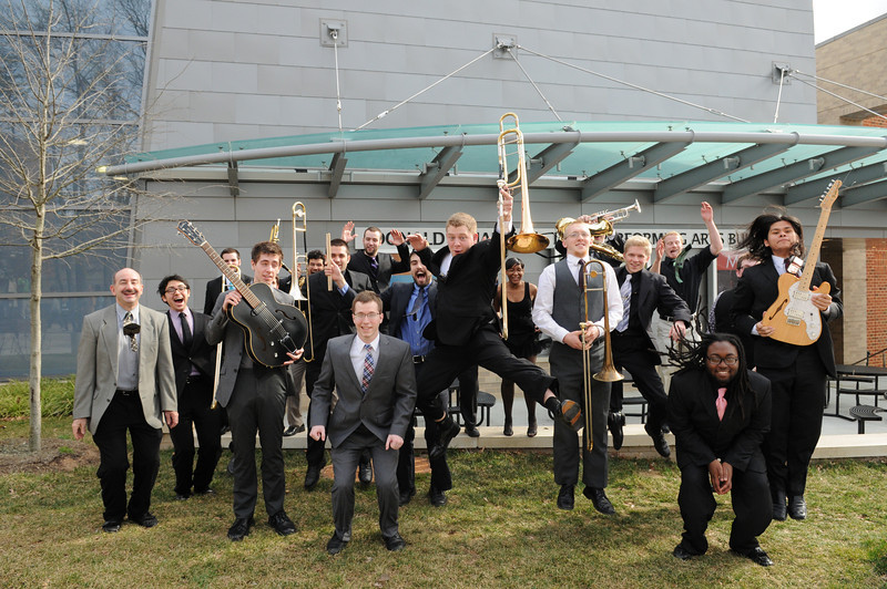 Jazz Ensemble, School of Music. Photo by Evan Cantwell/Creative Services/George Mason University