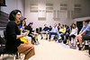 Combo/Latin American Music Ensemble (LADAMA) gives Master Class to Mason students in GMU Band Room.  <br /> Photo by:  Ron Aira/Creative Services/George Mason University