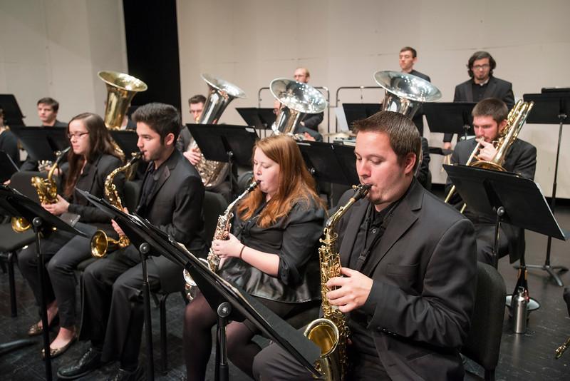 Wind Symphony dress rehearsal
