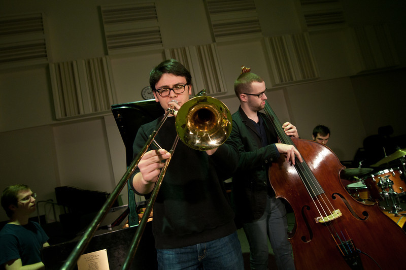School of Music Jazz Combo Ensemble. Photo by Evan Cantwell/Creative Services/George Mason University