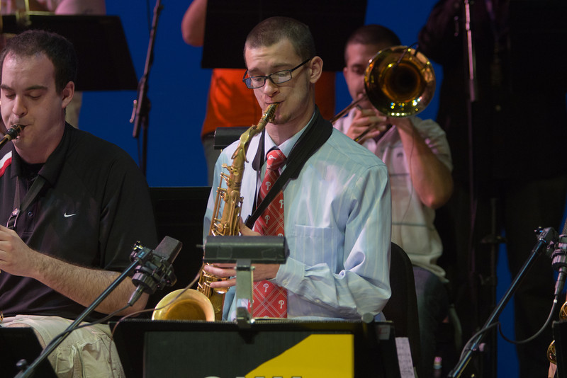 Mason Jazz Ensemble during the dress rehearsal. Photo by Craig Bisacre/Creative Services/George Mason University