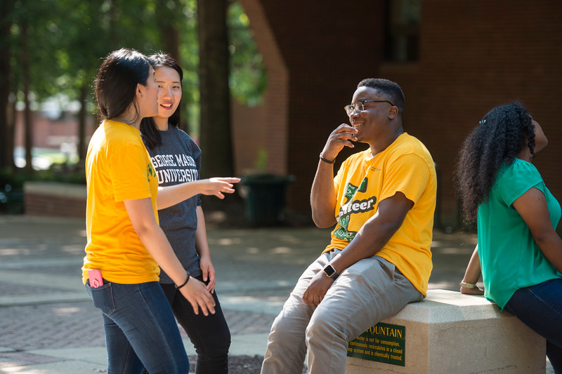 INTO Mason students at the Fairfax campus. Photo by Bethany Camp / Creative Services / George Mason University
