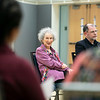 Margaret Atwood, author and activist, joins Tyler Cowen for a Creative Writing graduate class discussion prior the Mercatus Center's Conversations with Tyler series.  Photo by:  Ron Aira/Creative Services/George Mason University