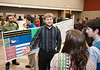 Honors College Research Exhibition poster presentations of 300 students at The Hub, at Fairfax Campus. Photo by Alexis Glenn/Creative Services/George Mason University