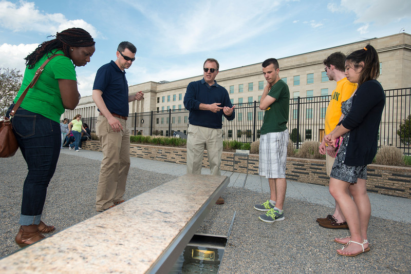 Behind the scenes tour of the National 9/11 Pentagon Memorial