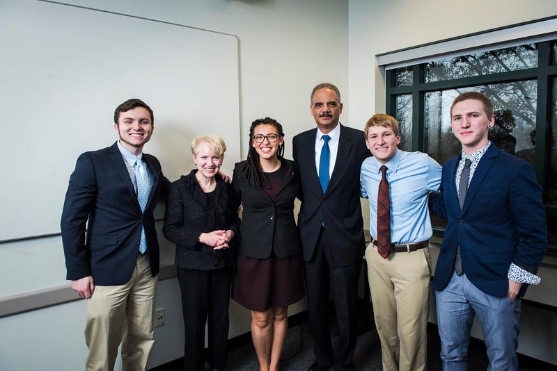 Robinson Professor Laurie Robinson invites Eric Holder