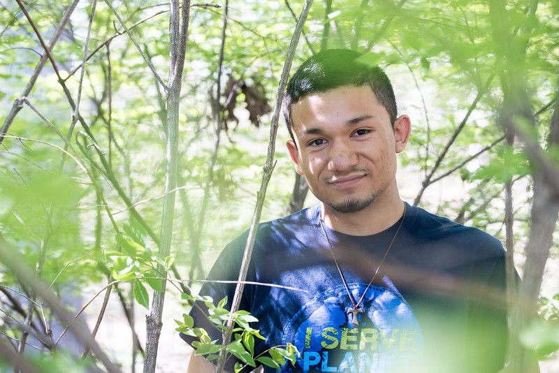 Chris Fernandez is a junior biology major who has received the $7,000 Udall Scholarship given to students with concentrated studies in conservation and ecosystem sustainability.  Photo by:  Ron Aira/Creative Services/George Mason University