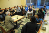 110324719e - Honors students listen to Robinson professor Shaul Bakhash. Photo by Evan Cantwell/Creative Services/George Mason University