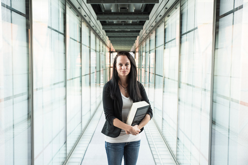 Laura Mahan's research at the Holocaust Museum uncovered little-known facts about gender-specific violence in German concentration camps.  Photo by:  Ron Aira/Creative Services/George Mason University