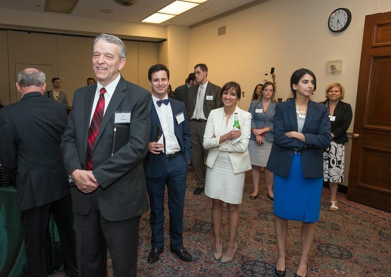 Students honor outgoing Virginia Representatives Frank Wolf and Jim Moran