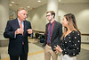 Former Virginia Gov. Terry McAuliffe, who joined Mason as a Distinguished Visiting Professor at the Schar School of Policy and Government, speaks with students at Dewberry Hall.  Photo by:  Ron Aira/Creative Services/George Mason University