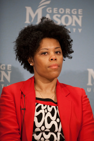 "111010513 - Pearl Ford Dowe, Associate Professor of Political Science, University of Arkansas, speaks at ""The Race and Public Policy: Issues and Solutions"" conference at George Mason University's School of Public Policy, Arlington campus."