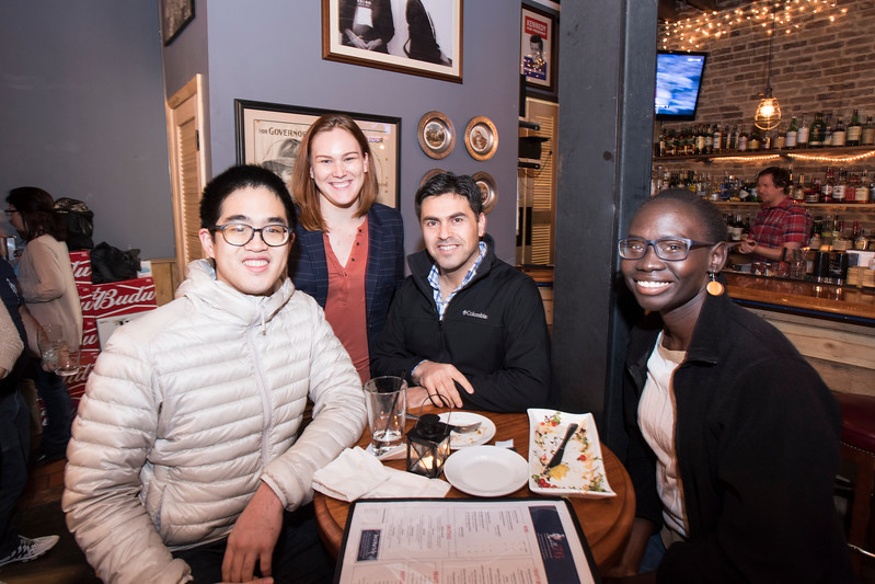 Schar School of Policy & Government at the Spirits of '76 Restaurant in Arlington VA for a pre-Homecoming Happy Hour.  Photo by:  Ron Aira/Creative Services/George Mason University