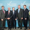 The Honorable John R. Kasich, Governor of Ohio, Mark J. Rozell, Dean Schar School of Policy and Government, Gerry Connolly,  United States Representative, VA 11th District, Dwight C. Schar, The Honorable Terence McAuliffe, Governor of Virginia, Tom Davis, Rector, George Mason University Board of Visitors, and Ángel Cabrera, President, George Mason University prior to the Schar School of Policy and Government Dedication.  Photo by Ron Aira/Creative Services/George Mason University