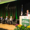Mark J. Rozell, Dean Schar School of Policy and Government speaks during the Schar School of Policy and Government Dedication.  Photo by Ron Aira/Creative Services/George Mason University