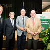 Tom Davis; Rector; George Mason University Board of Visitors; Dwight Schar and guests at the Schar School of Policy and Government Dedication.  Photo by:  Ron Aira/Creative Services/George Mason University