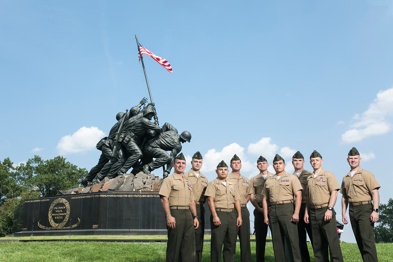 Schar School Marine Officers.
