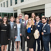 Henry Butler, Dean, poses with students after the Antonin Scalia Law School Dedication.  Photo by:  Ron Aira/Creative Services/George Mason University