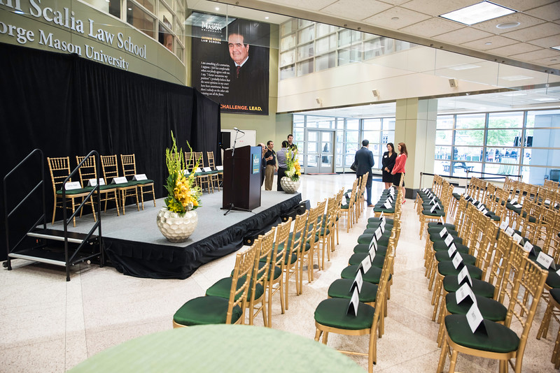 the Antonin Scalia Law School Dedication.  Photo by:  Ron Aira/Creative Services/George Mason University