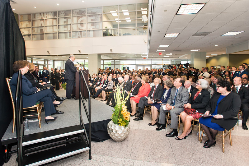 Ángel Cabrera, president, speaks at the Antonin Scalia Law School Dedication.  Photo by:  Ron Aira/Creative Services/George Mason University
