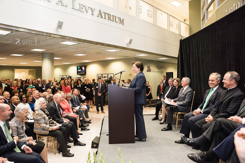 The Honorable Elena Kagan, Supreme Court of the United States, speaks at the Antonin Scalia Law School Dedication.  Photo by:  Ron Aira/Creative Services/George Mason Universityat the Antonin Scalia Law School Dedication.  Photo by:  Ron Aira/Creative Services/George Mason University