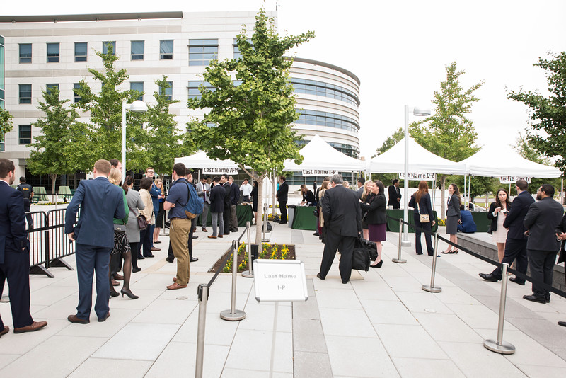 Entrance to the Antonin Scalia Law School Dedication.  Photo by:  Ron Aira/Creative Services/George Mason University
