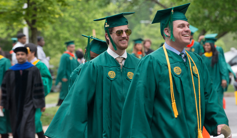 Procession for the Volgenau School of Engineering Convocation. Photo by Evan Cantwell/Creative Services/George Mason University