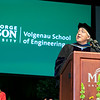 Assistant Director of the National Science Foundation Directorate for Computer and Information Science and Engineering James F. Kurose gives the address during the Volgenau School of Engineering Degree Celebration.  Photo by:  Ron Aira/Creative Services/George Mason University
