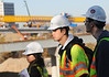 101112096e - Civil Engineering faculty member, Ronaldo Nicholson, takes students on a field visit to the HOT Lanes project in Tysons Corner, VA. Photo by Evan Cantwell.