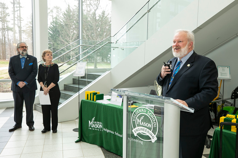 2020 Engineers Week Kickoff and Proclamation. Volgeneau School of Engineering Dean Kenneth S. Ball.  Photo by:  Ron Aira/Creative Services/George Mason University